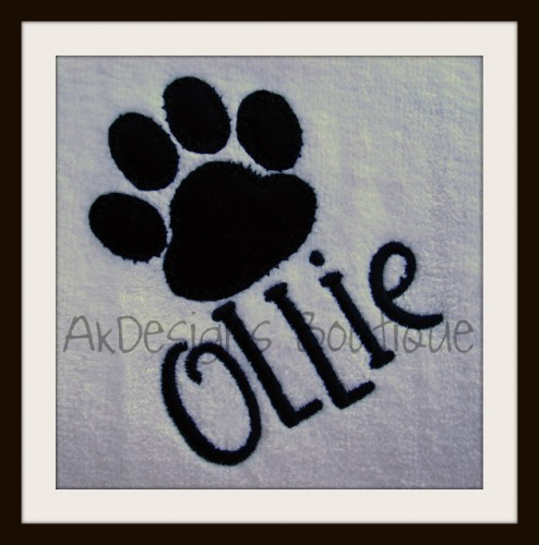 Embroidery Designs at Urban Threads - Freebie - Paw Print!