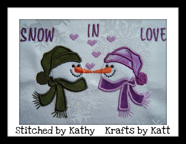 Applique Snowman Machine Embroidery Designs