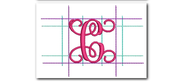 template3  Letter Monogram Template Fij on