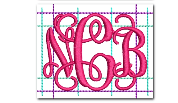 template4  Letter Monogram Template Fij on